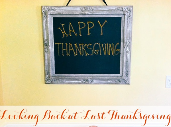 Looking Back at Last Thanksgiving