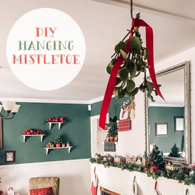 DIY Hanging Mistletoe