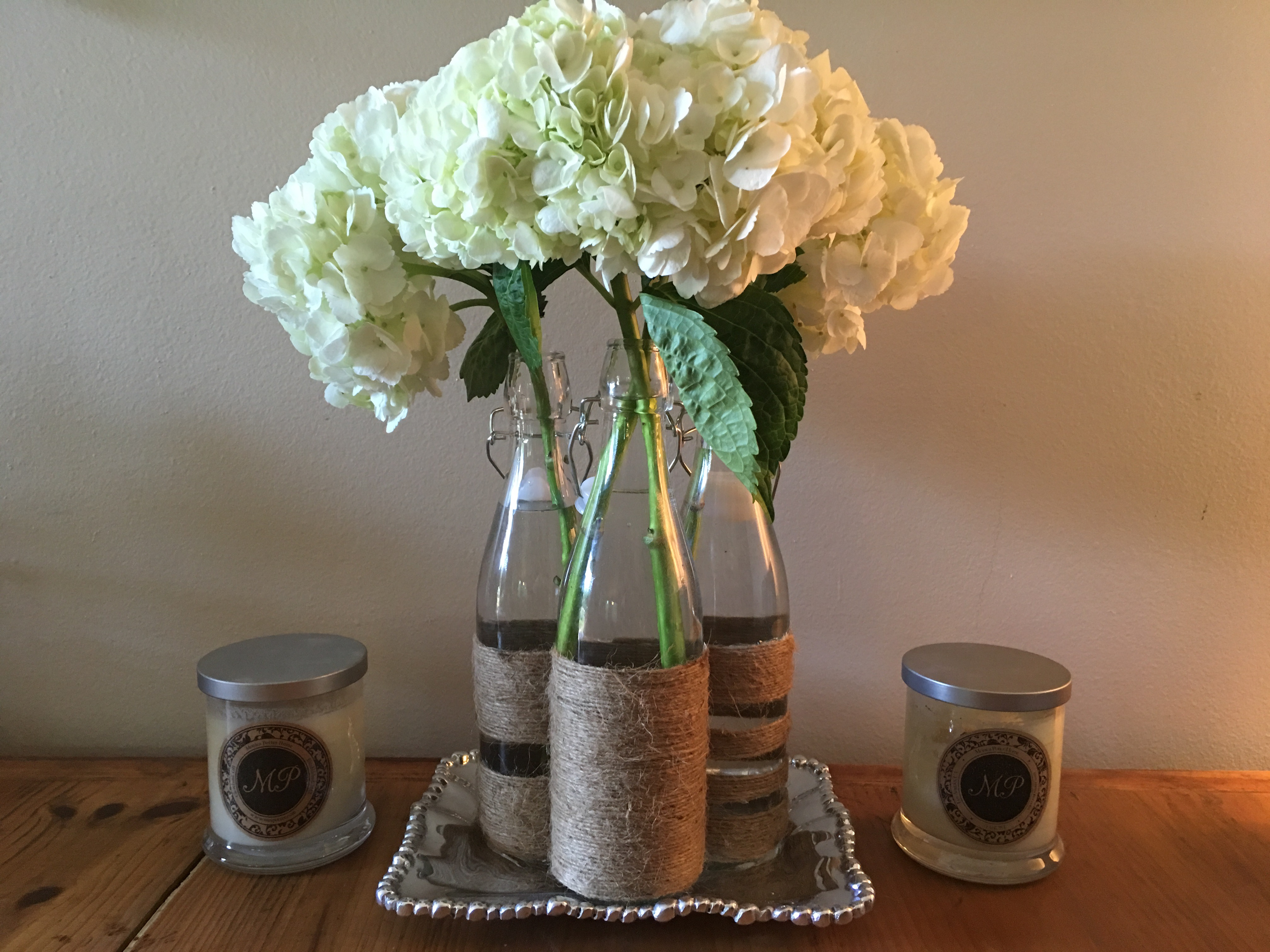 glass, twine, vase, craft, diy, monica potter, monicapotterhome, reduce, reuse