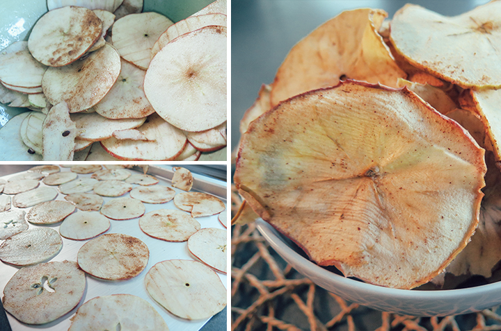 baked apples, cinnamon, chips, cooking, home, monicapotter, monica potter, monica potter home