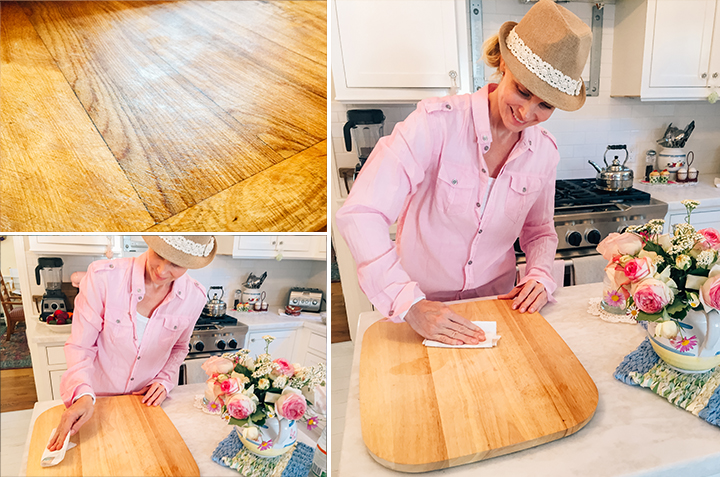 cutting board, cleaner, conditioner, lemons, salt, coconut oil, cleaning, home, monicapotter, monica potter, monica potter home