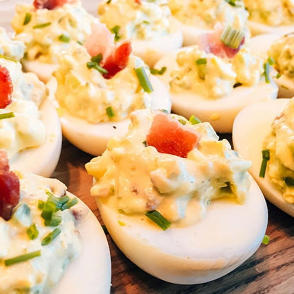 Jalapeño Bacon Deviled Eggs