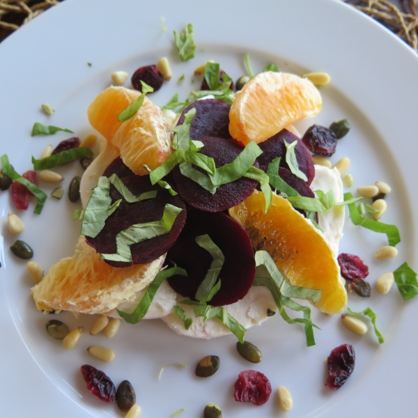 Beet, Citrus, Cheese Salad