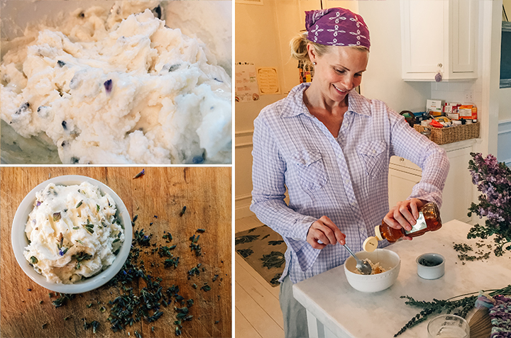 lavender, honey, goat cheese, cooking, home, monicapotter, monica potter, monica potter home