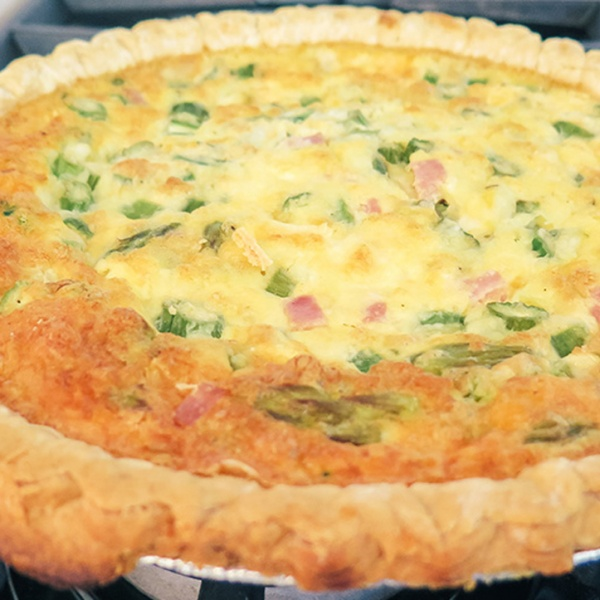 Asparagus, Ham & Cheese Quiche