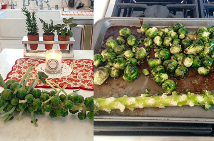 brussels sprouts, cooking, home, monicapotter, monica potter, monica potter home