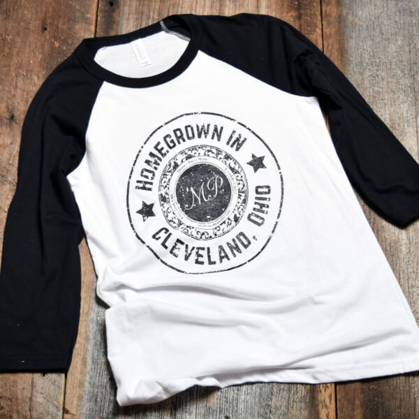 Homegrown in Cleveland Baseball Tee