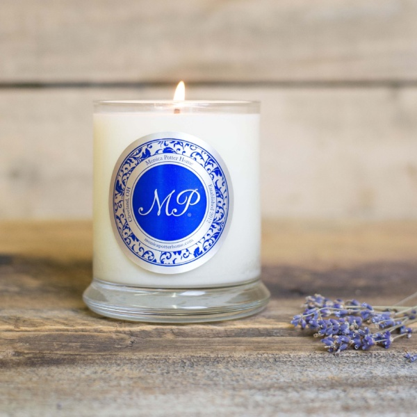 Lavender Essential Oil Soy Glass Candle
