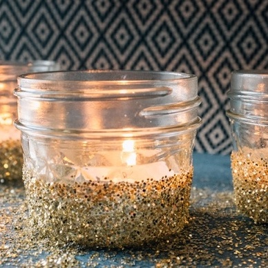 Glitter Candle Votives